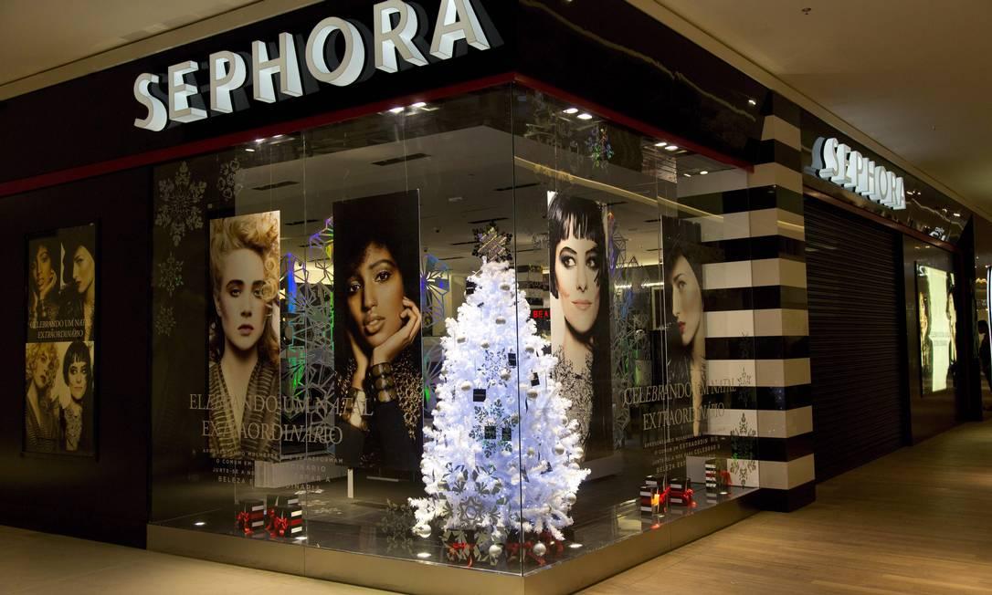 A loja francesa de cosméticos Sephora abre em dezembro duas lojas na cidade, uma no Village Mall e outra no Shopping Rio Sul Freelancer / Paula Giolito / O Globo