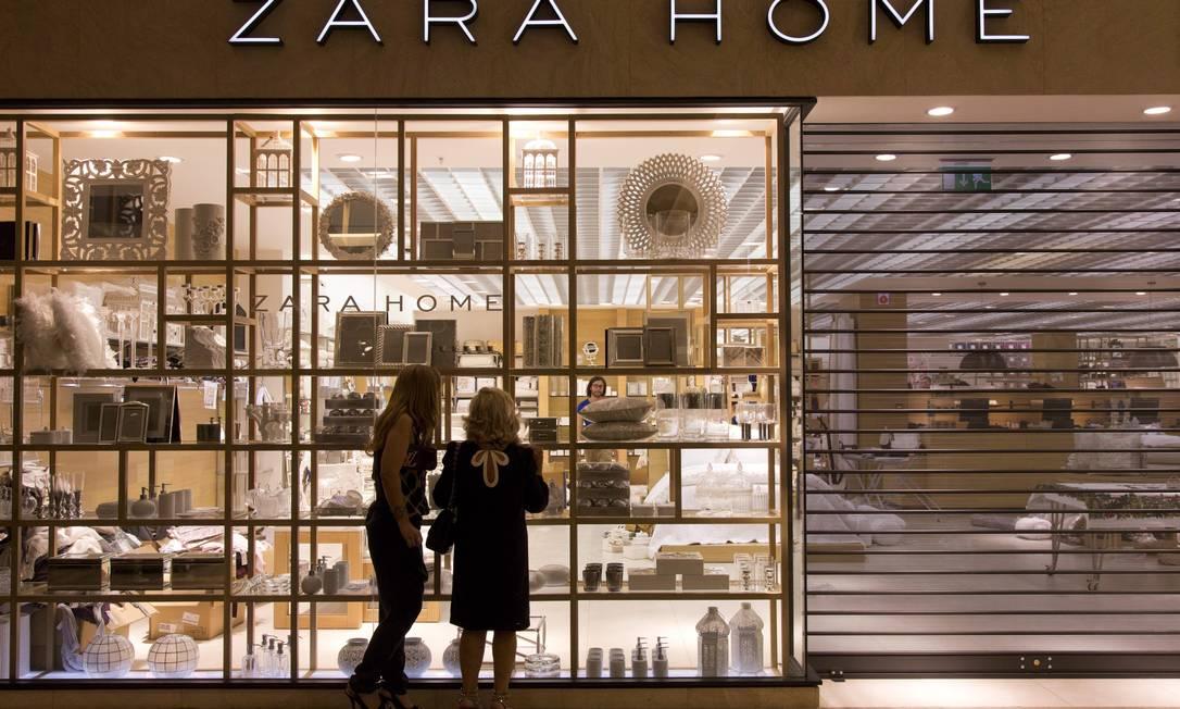 O grupo Inditex abre nesta terça-feira sua primeira Zara Home na cidade Freelancer / Paula Giolito / O Globo