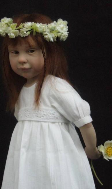 Antes de criar bonecas, Laurence era pintora de retratos Reprodução