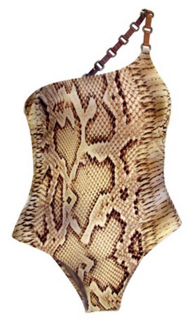 Maiô alça couro serpente Lenny (21 2523-3796), R$ 450 Divulgação
