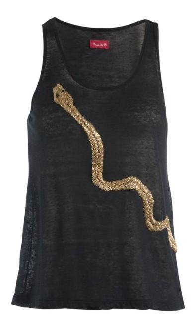 Blusa serpente Maria Filó (21 3322-7015), R$ 399 Divulgação