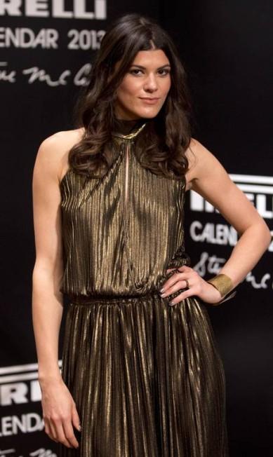 A modelo americana Summer Rayne Oakes também apostou no dourado Felipe Dana / AP