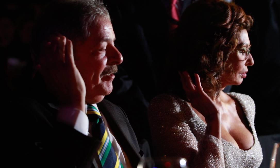 Lula falou brevemente com a atriz italiana Sophia Loren Pedro Kirilos