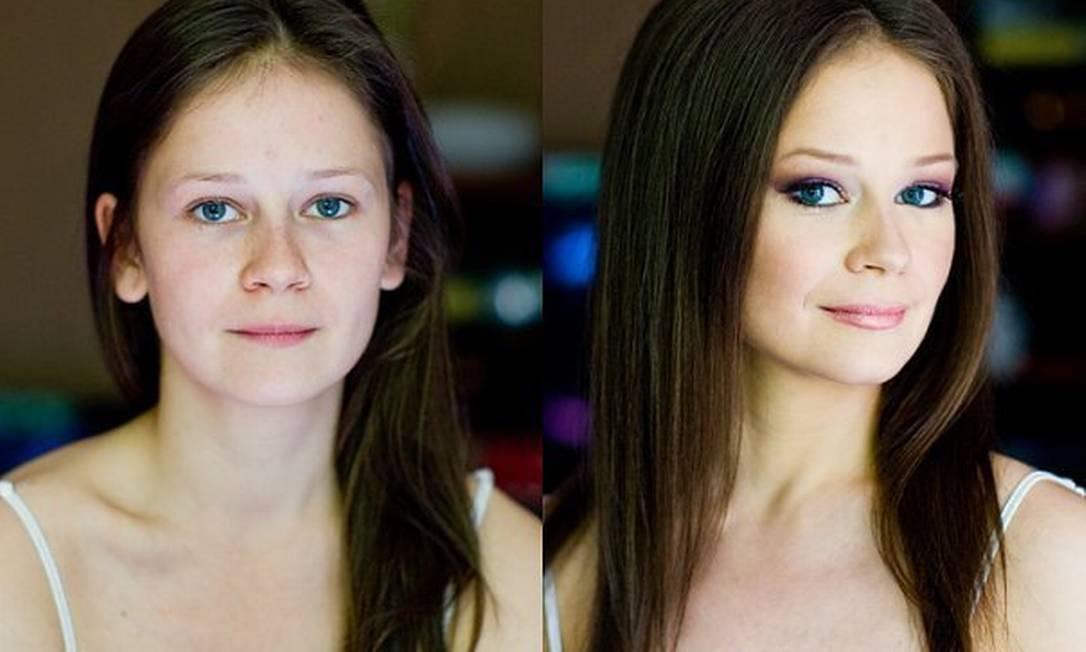 Nada como uma maquiagem para transformar uma pessoa Reprodução www.vadimandreev.ru