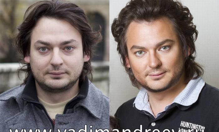 Os homens também não costumam escapar de suas transformações Reprodução www.vadimandreev.ru