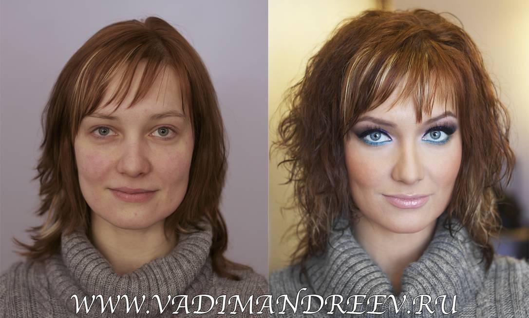 """""""Eu quero ajudar a todas a enxergarem sua própria beleza"""", disse o maquiador, de 28 anos, ao jornal inglês """"Daily Mail"""". Reprodução www.vadimandreev.ru"""