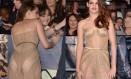 Kristen Stewart ousa no look Foto: JOE KLAMAR / AFP