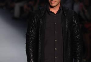 Rodrigo Lombardi foi a sensação do primeiro dia da edição de inverno 2013 do Fashion Rio Foto: Fabio Rossi/ O Globo