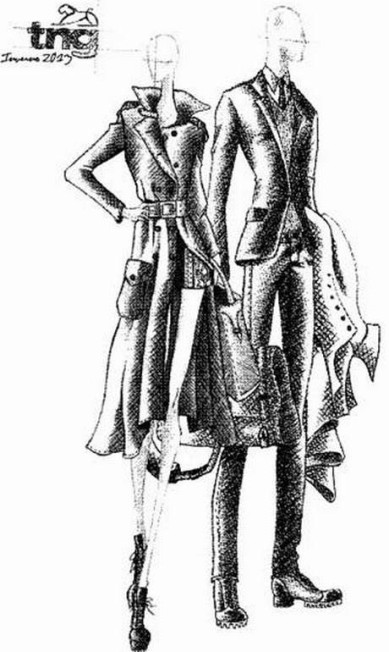 Croqui TNG. Exploradores do século XXI inspiraram o estilista Tito Bessa Jr Divulgação