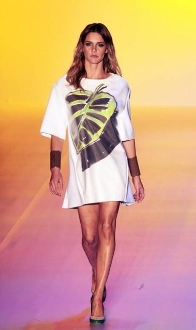 A apresentadora Fernanda Lima voltou aos tempos de modelo no desfile de inverno 2013 da grife Forum Eliaria Andrade / Eliária Andrade / O Globo