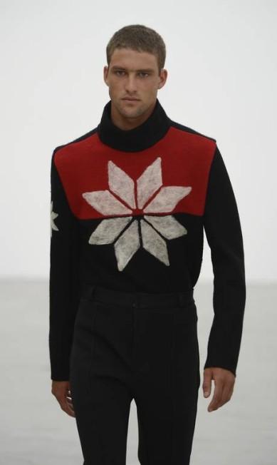 O cristal de neve, o leão e os pinheiros pontuaram alguns suéteres masculinos e vestidos Ze Takahashi / Divulgação