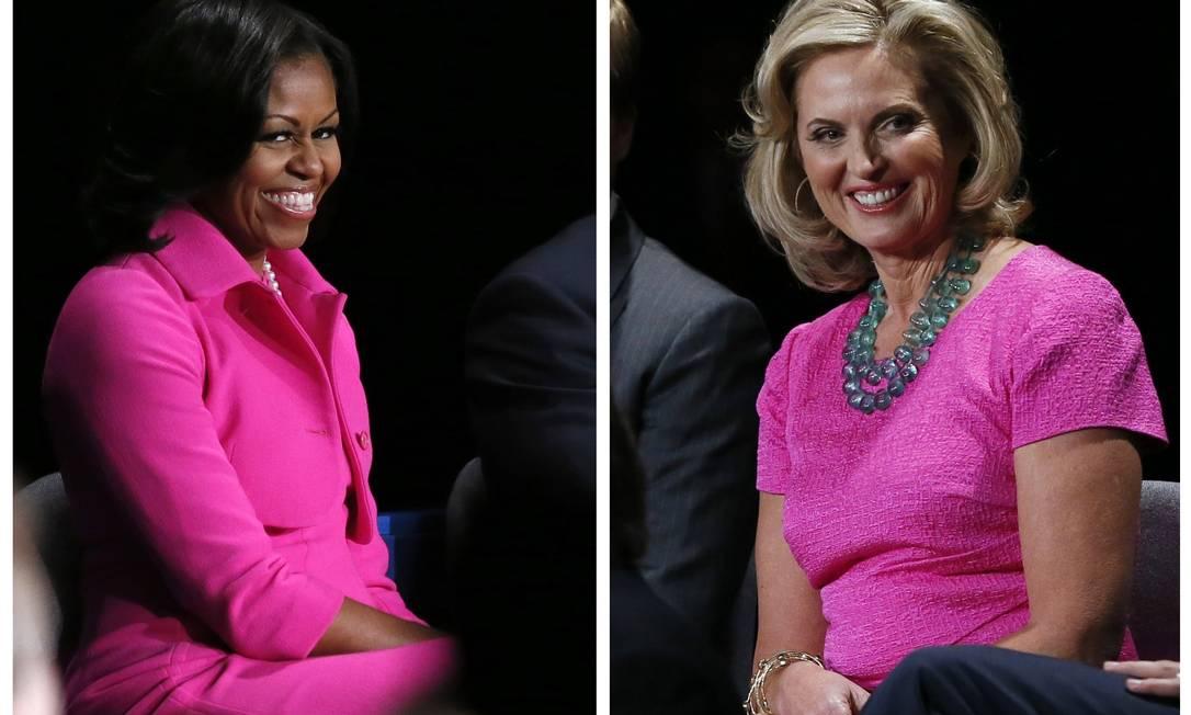 """O movimento mundial """"Outubro Rosa"""", lançado em 1990, busca conscientizar mulheres de todo o mundo sobre o câncer de mama. Inspirados na cor do mês, que mobilizou Michelle Obama e Ann Romney, selecionamos vários produtos para a casa e para o corpo RICK WILKING / Reuters"""