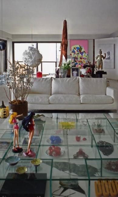 Quase uma galeria de arte, este apartamento é obra do escritório Progetto Terceiro / Divulgação