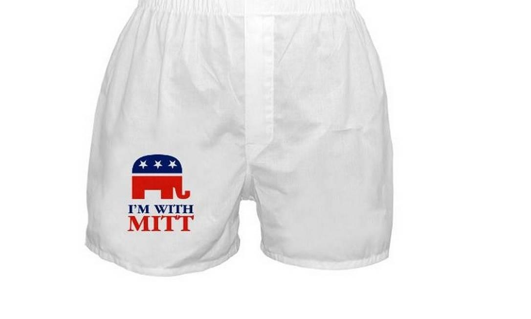 Mitt ou Obama? Os eleitores se polarizam nas roupas de baixo Reprodução / CafePress.com