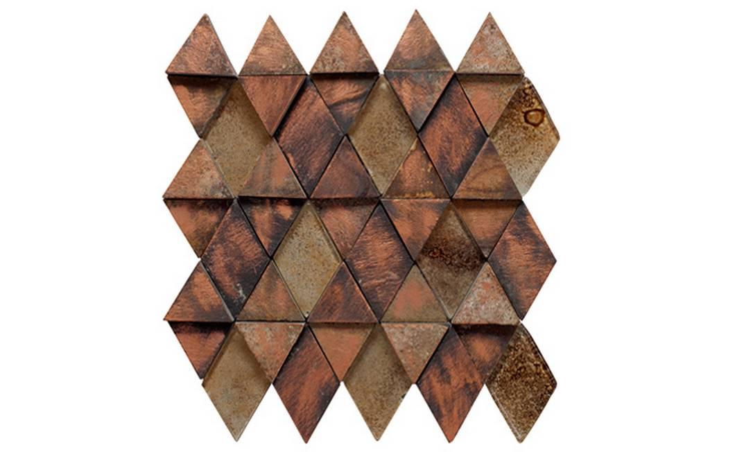 Revestimento de parede modelo Diba 26,5 x 25,5 fabricado pela Inti e à venda na Chão de Barro (21 2494-6038), R$ 99,44 Divulgação