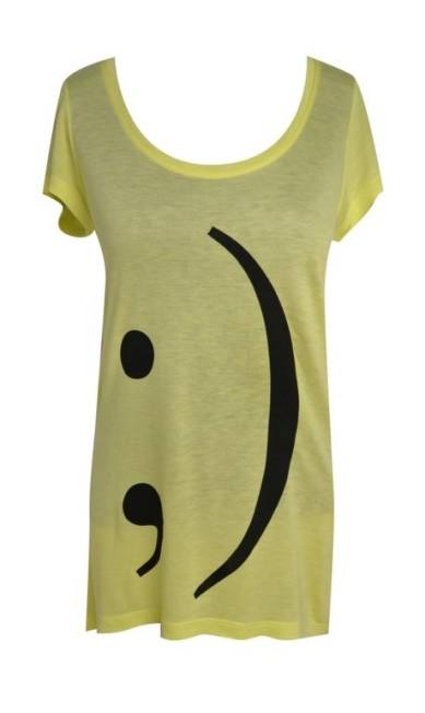 T-shirt smile símbolo da Q-Vizu (21 2540-0481), R$ 129 Divulgação