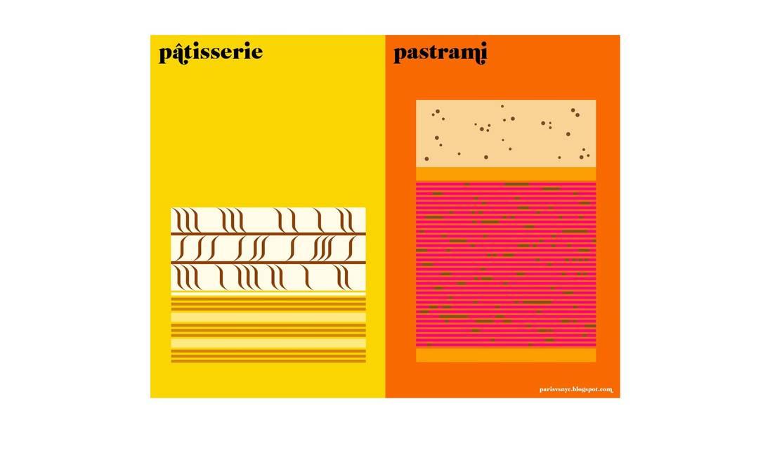 A pâtisserie está para Paris, assim como o pastrami está para Nova York, segundo o designer Vahram Muratyan Reprodução