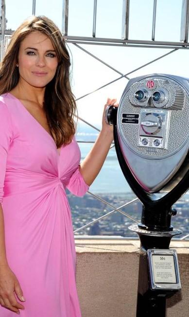 Como embaixadora da Estee Lauder, Liz foi a grande estrela do evento Evan Agostini / Evan Agostini/Invision/AP