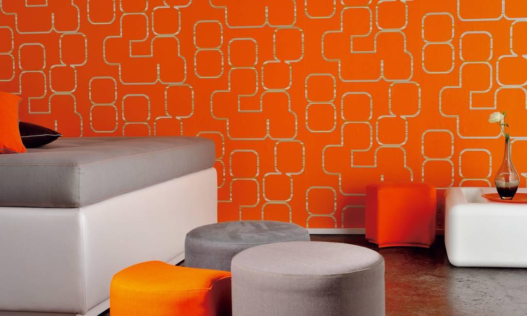 Papel de parede à venda na By Floor (R$1.1000) o rolo de 10m x 70m Terceiro / Divulgação
