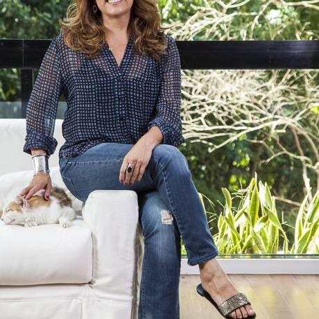 A atriz Patricya Travassos em sua casa, na Gávea, Rio de Janeiro Foto: Daniela Dacorso / O Globo