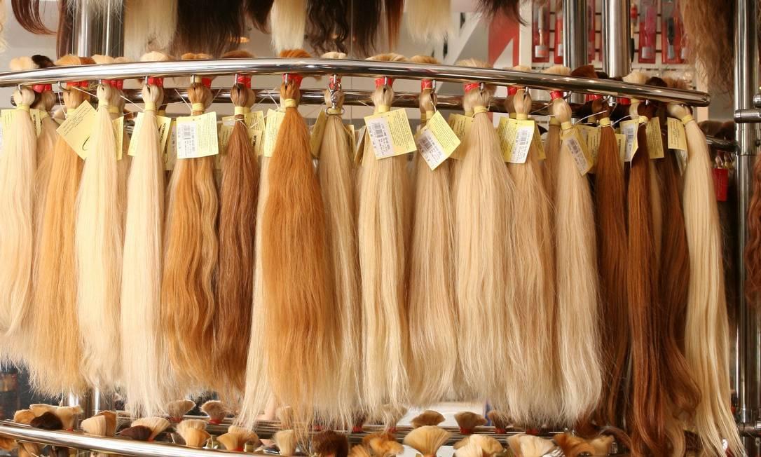 Cabelos longos: o maior aplique de cabelo do mundo, uma trança rosa e loira, tinha cerca de 294 metros e foi feito em 2010 pela australiana Sabrina Russo. Camilla Maia / O Globo
