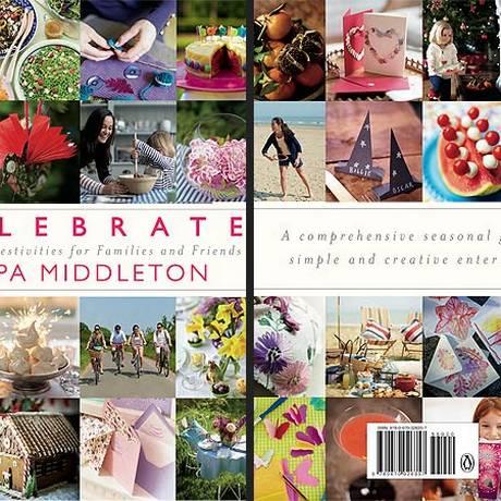 A capa e contracapa do livro de Pippa Middleton, a irmã da duquesa de Cambridge, publicada no site da revista People Foto: Reprodução