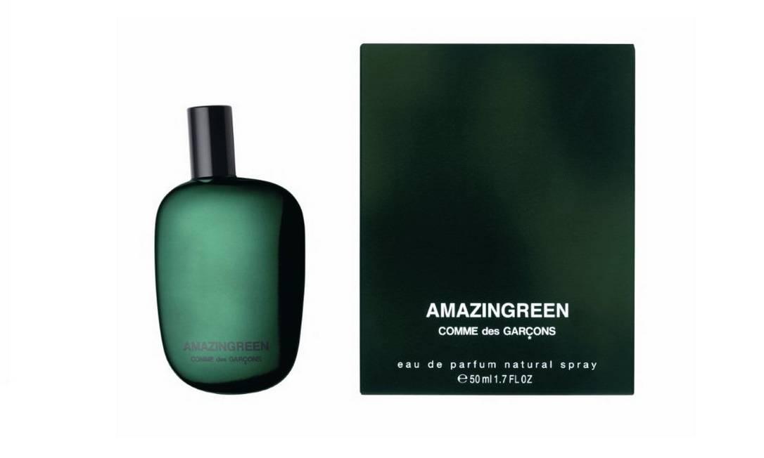 """Amazingreen, da grife Comme des Garçons, é o quinto melhor perfume da seleção do """"The Independent"""". O cheiro? De floresta. Por enquanto, encontrado apenas fora do país. Reprodução"""