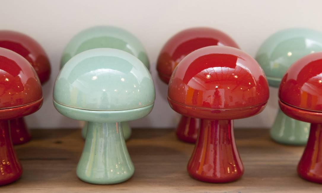 O Magic Mushroom é um dos objetos de decoração criado pelo Gávea em parceria com o designer Carlos Marques Simone Marinho / Simone Marinho / Agência O Globo
