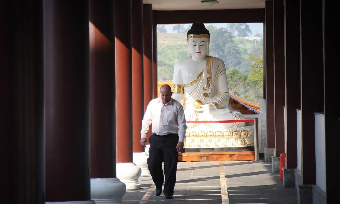 No templo, é possível meditar, ter aulas de ioga e tai chi chuan e saborear uma refeição vegetariana Marcos Alves/Agência O Globo