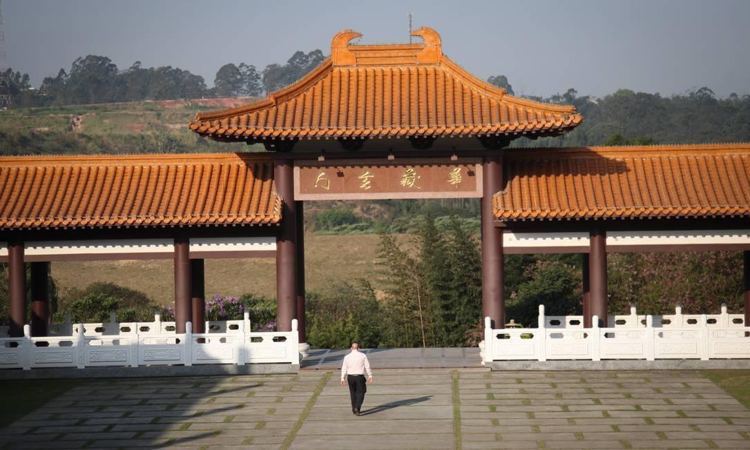 O Zu Lai é um entre muitos templos do Monastério Fo Guang Shan espalhados pelo mundo. Tem suas raízes no budismo Mahayana, cuja tradição enfatiza que a natureza búdica está ao alcance de todos.Foto Marcos Alves/Agencia O Globo. Marcos Alves/Agência O Globo