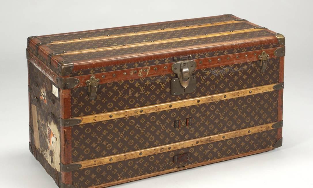Este foi a primeiro baú Louis Vuitton comprado por Greta. A atriz costumava colocar sua coleção de sapatos nele quando fazia viagens de navio. HANDOUT / REUTERS/ Julien's Auctions