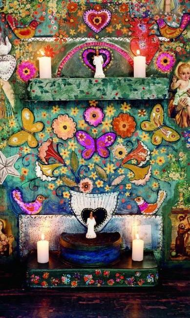Wilbert fez questão de manter a tradição de Trancoso no interior das casas. Na foto, o oratório da casa Zé e Zilda Divulgação / Fernando Lombardi