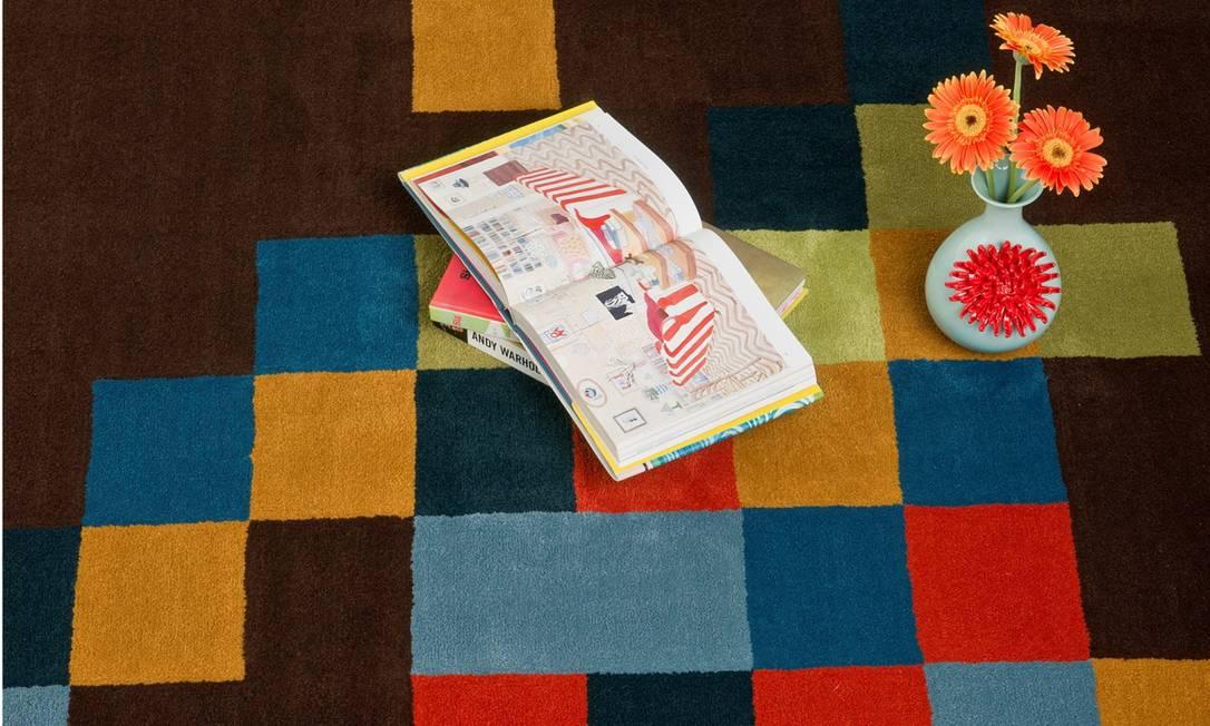 O tapete Pied Pixel é da designer Regina Kato R$ 705 o m² (Tel.: 21 2274-7115) Terceiro / Divulgação