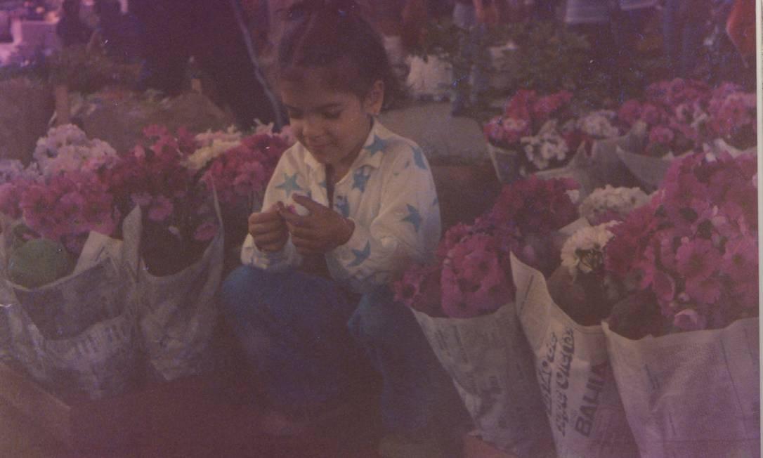 Ainda criança, com camisa de estrelas Foto: Arquivo pessoal