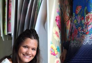 Hoje estilista, a ex-modelo de prova Thalita Cotrofe faz a prova em Bruna Barros Foto: Ana Branco / Agência O Globo