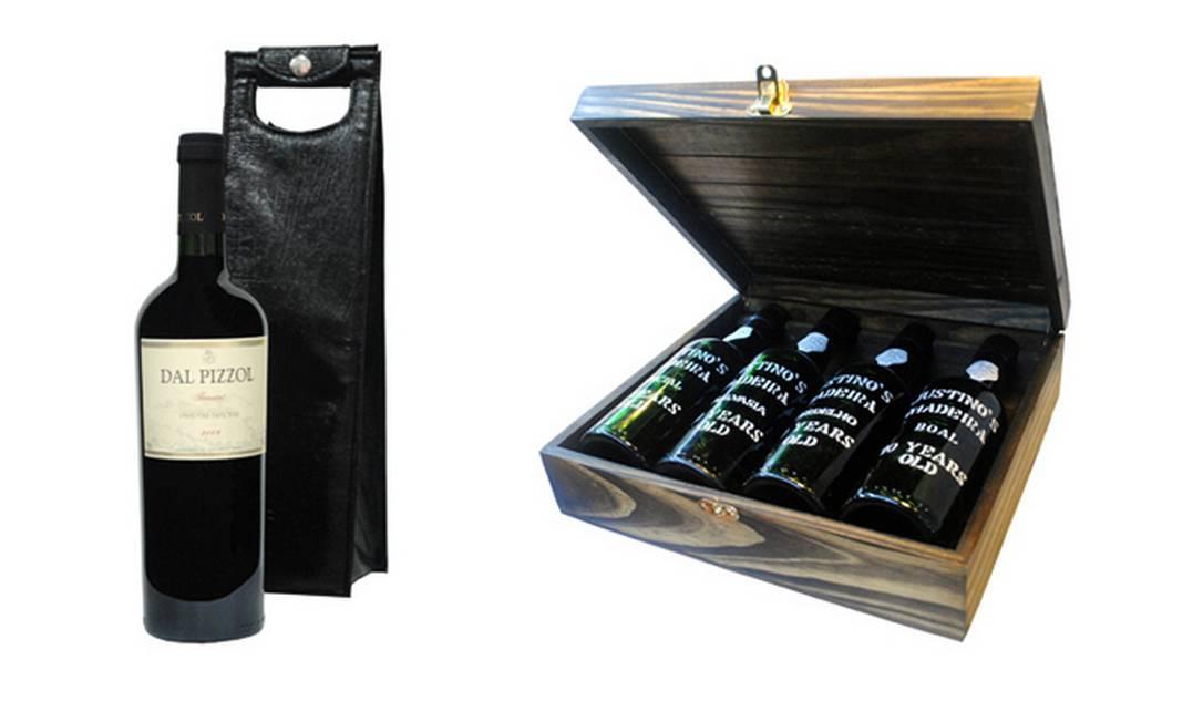 Para os amantes de vinho II: vinho Dal Pizzol Tannat 2009 com bolsa de couro na Delly Gil (Rua Gilberto Cardoso, sem número, loja 8) R$ 65 e kit Justino's R$ 399 na Lidador Barra (Barra Shopping) Divulgação
