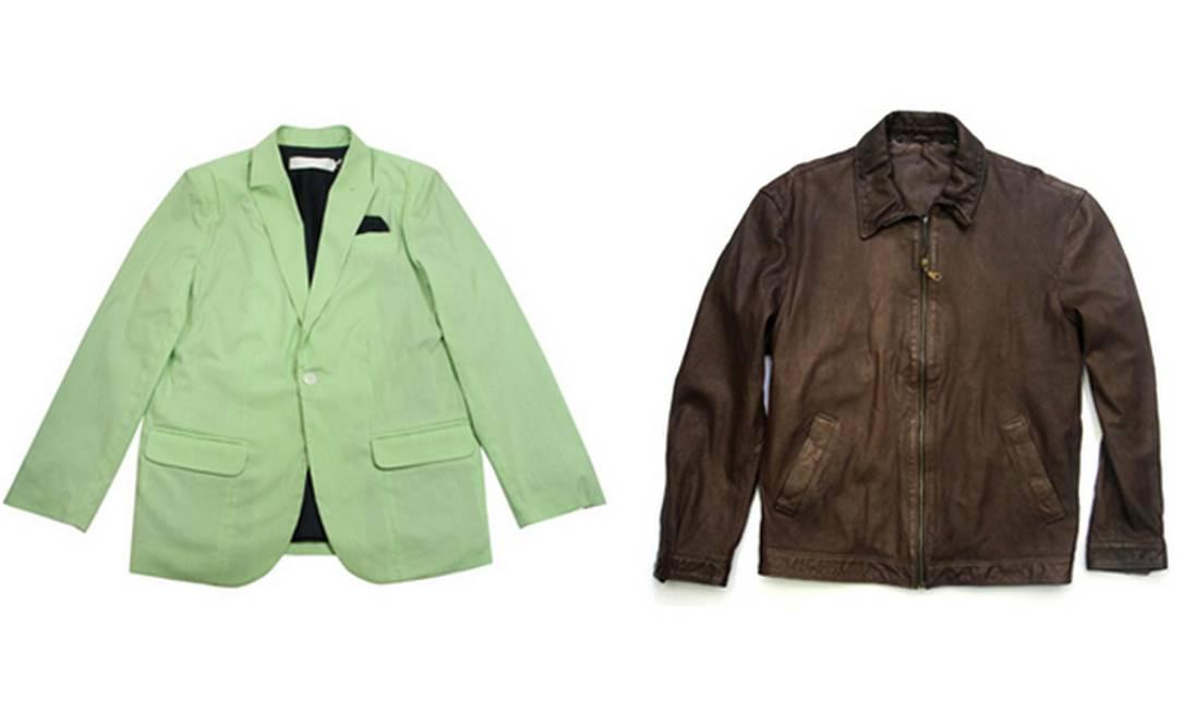 Para os friorentos: paletó verde Sérgio K R$ 698 (Shopping Fashion Mall) e jaqueta AD R$ 1200 (www.adlifestyle.com.br) Divulgação