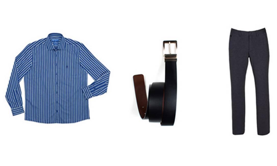 Para os pais arrumadinhos: camisa Dudalina R$ 299,90 (www.dudalina.com.br), cinto Aviator R$ 129 (Shopping Leblon) e calça Lorenzo Merlino para Riachuelo R$ 119 (SAC: 0800 701 4342) / Produção: Talita Duvanel Divulgação