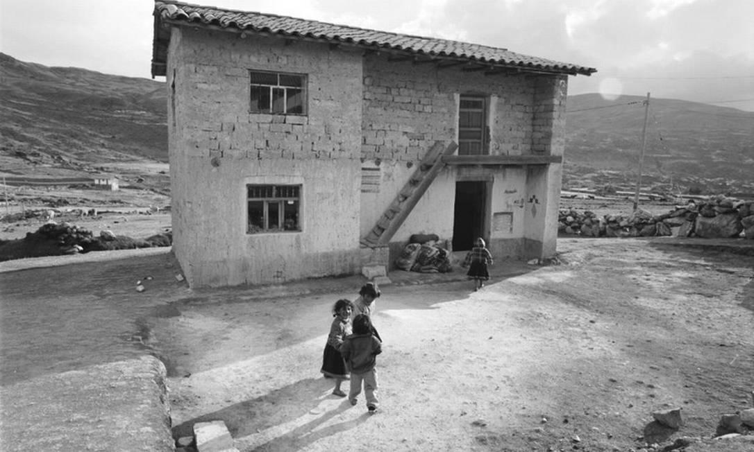 O Peru, país da mãe de Helena, sofre com o derretimento das geleiras da Cordilheira dos Andes Helena Christensen/Oxfam / Helena Christensen/Oxfam