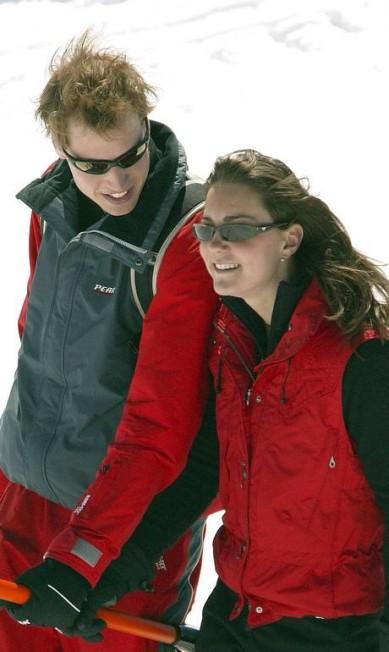 William e Kate foram flagrados esquiando Terceiro / Reuters