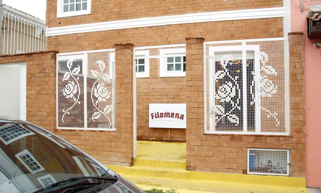 Entrada da Forneria Santa Filomena, com as grades bordadas Leonardo Aversa / Leonardo Aversa / Agência O Globo