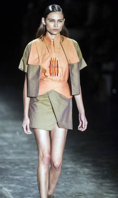 Entre os tecidos, destacam-se tule, algodão, organza plastificada, tricoline maquinetada e dois padrões de jacquard Leonardo Soares / Agência O Globo