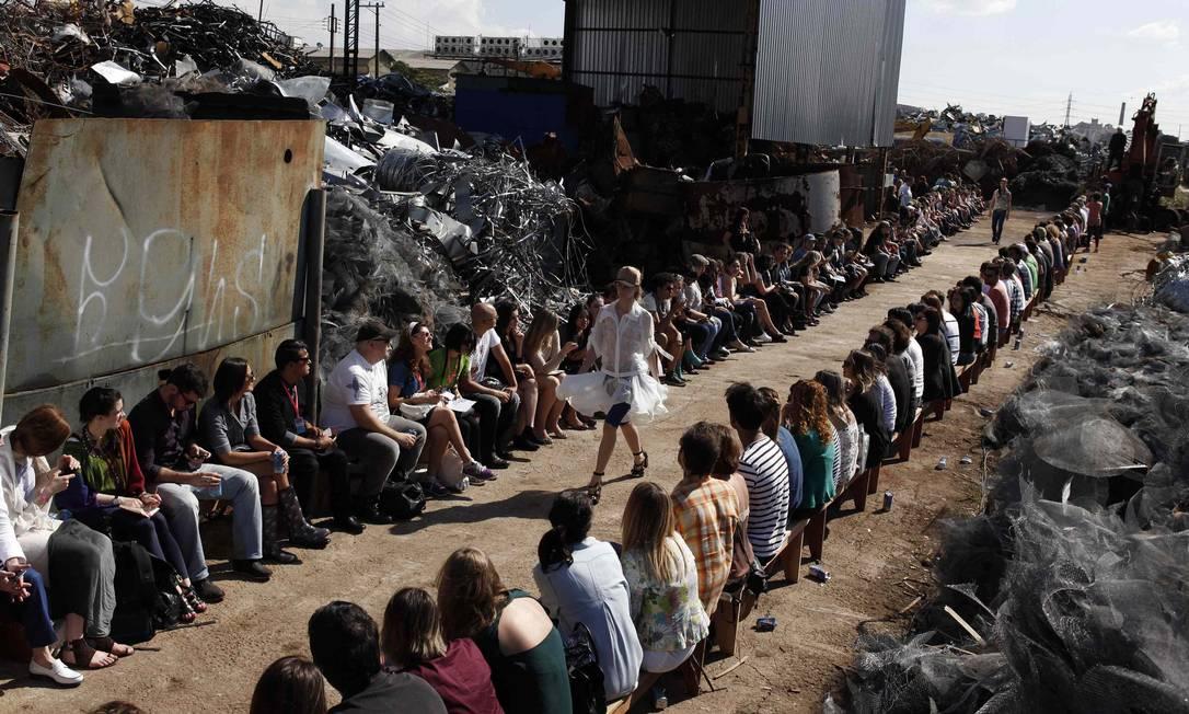 O cenário do desfile NACHO DOCE / Leonardo Soares /O Globo