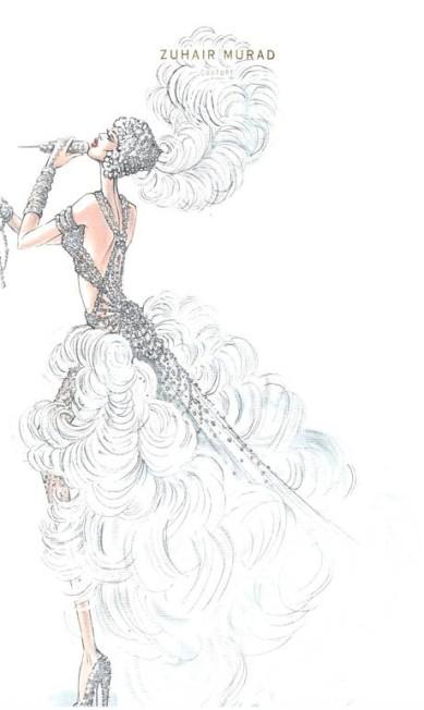 A parceria entre J. Lo e Murad já é antiga e resulta em modelos cheios de brilhos, decotes e fendas Divulgação