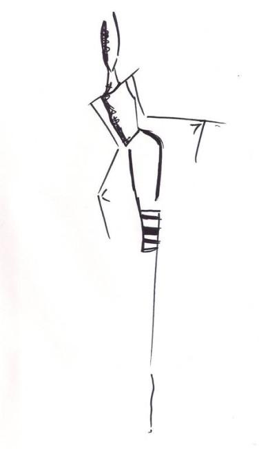 Vitorino Campos estreia na semana de moda paulistana com uma coleção repleta de formas retas e alongadas. Vaio / Divulgação