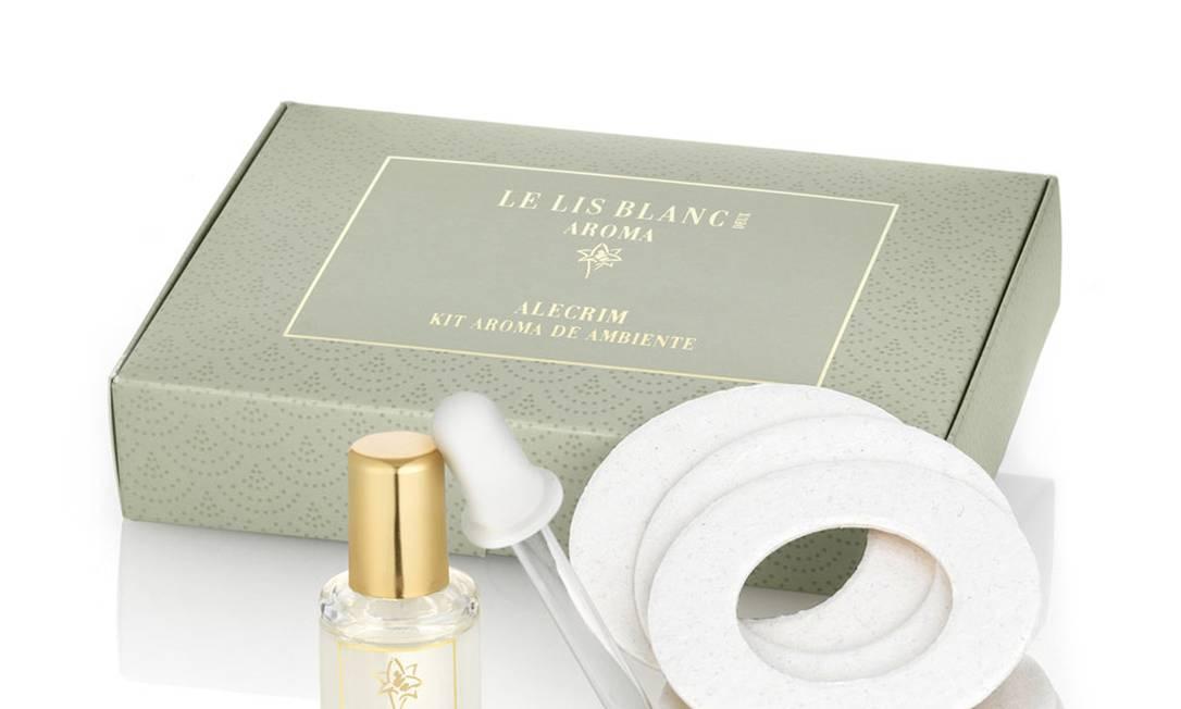 Kit Aroma de Ambiente Alecrim, da Le Lis Blanc (11) 3809-8950, R$ 69,50 Divulgação / Reportagem e produção: Fernanda Baldioti