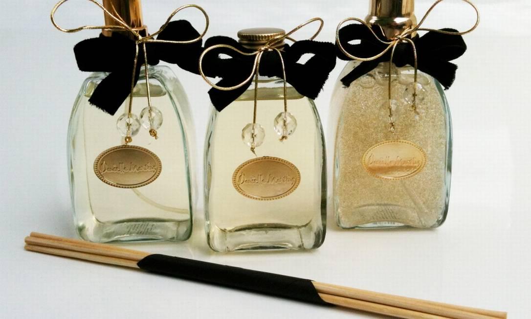 Spray, difusor e sabonete líquido da Daniella Martins (21 2511-0887), a partir de R$ 68 cada Divulgação