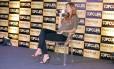 Gisele Bündchen no lançamento do concurso Top Cufa Brasil