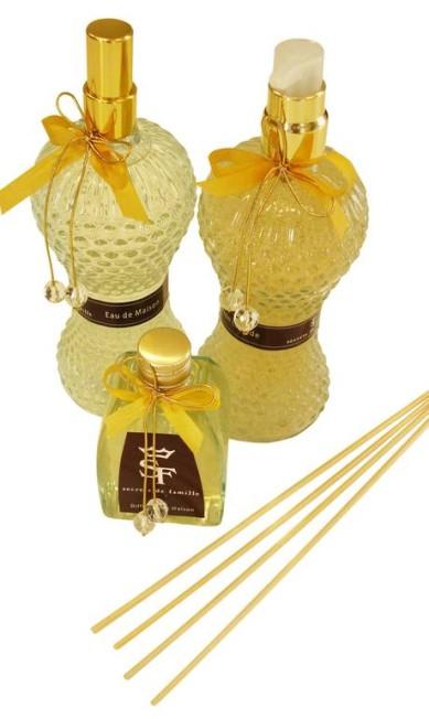 Aromatizador de ambiente, difusor de vareta e sabonete Líquido da Secrets de Famille (21 2540-6539), a partir de R$ 84 Divulgação