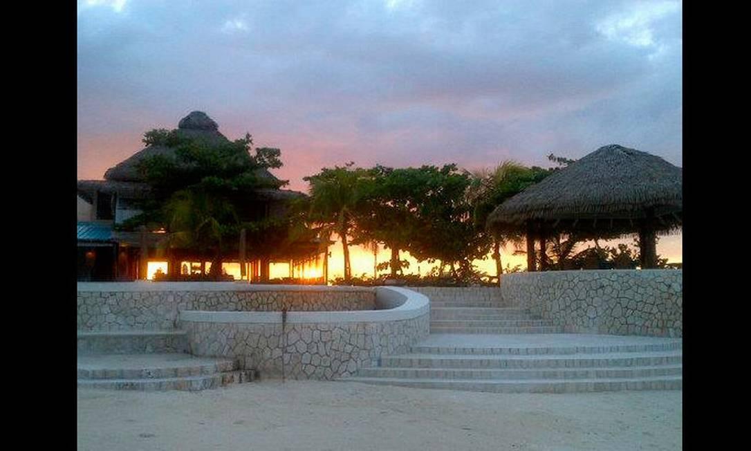O pôr do sol em Ocho Rios Reprodução